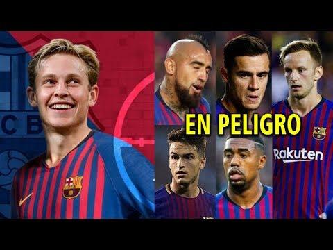 Los 5 Jugadores del Barcelona que están amenazados con la presencia de Frenkie de Jong