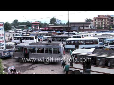 Local bus stand in Kathmandu - Nepal