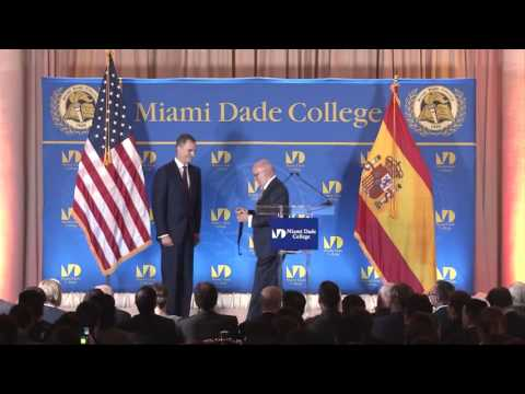 King Felipe VI of Spain Master Lecture at Miami Dade College