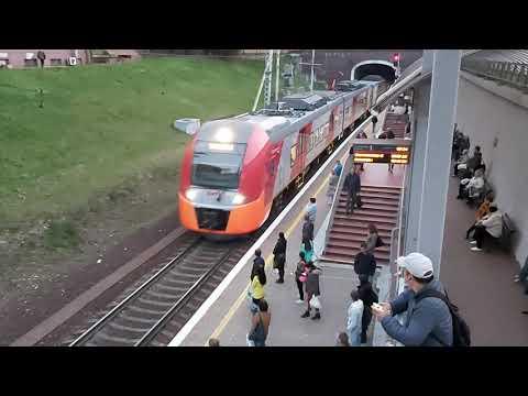 """Прибытие """"Ласточки"""" на Северный вокзал в Калининграде"""