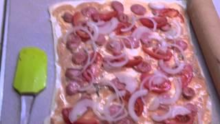 Домашняя пицца. Видео-рецепт вкусной пиццы