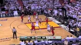 三巨頭發威 熱火擊敗76人, 2011 NBA Playoffs ~ Game 1~ Miami Heat vs Philadelphia 76ers