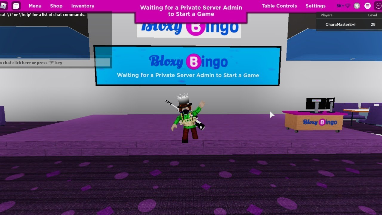 Roblox Bloxy Bingo [LIVE] - Join with me in VIP Server