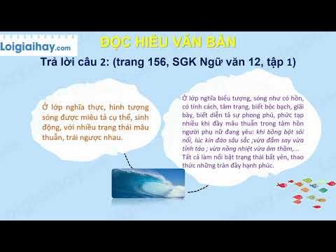 Soạn bài Sóng trang 154 SGK Ngữ văn 12 tập 1