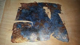 Liver of Sulphur Applied to Copper Leaf