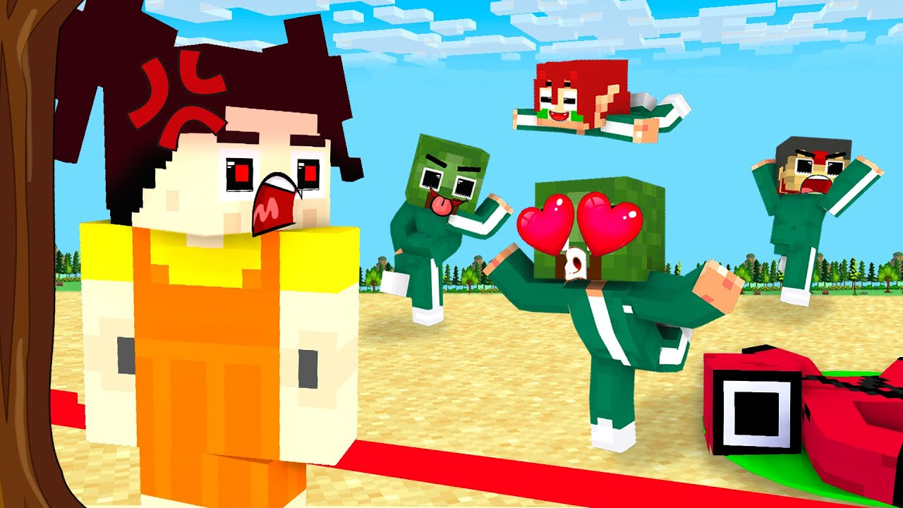 Monster School : Squid Game Parody Baby Zombie - Sad Story - Minecraft Animation