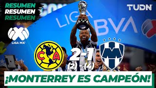 Resumen y goles | America 2 (2) - 4 (1) Monterrey | Final Vuelta - Liga MX AP 19 | TUDN
