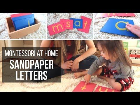 MONTESSORI AT HOME: Sandpaper Letters