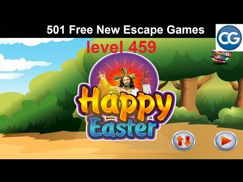 [Walkthrough] 501 Free New Escape Games Level 459 - Happy Easter - Complete Game