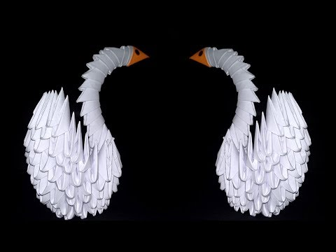 HOW TO MAKE ORIGAMI SWAN 3D | # SUORI TV ART AND CRAFT