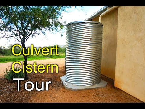 Culvert Cistern Tour - Rainwater Harvesting DIY