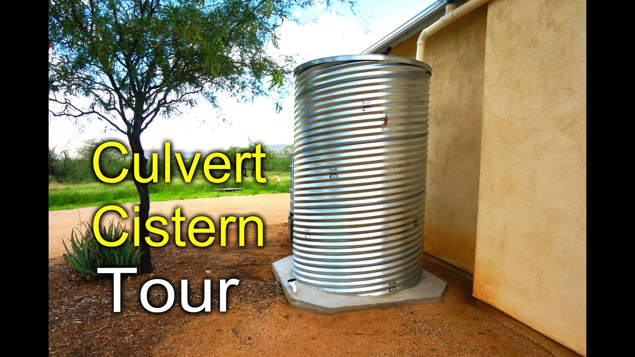 Culvert Cistern Tour Rainwater Harvesting Diy Youtube