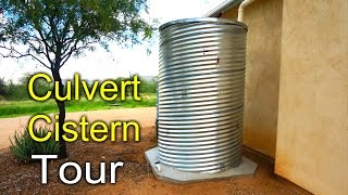 Culvert Cistern Tour - Rainwater Harvesting DIY Video