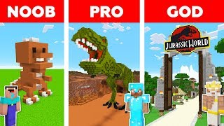 Minecraft NOOB vs PRO vs GOD : JURASSIC PARK in minecraft / Animation
