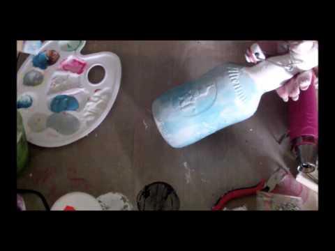 #Maritim KoOp MFG #maritimeFlasche #Bottle MixedMedia Deko DIY Tutorial