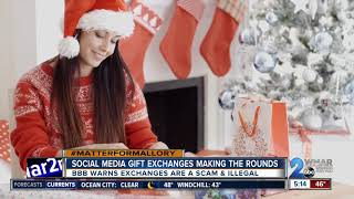 Police remind Facebook users popular gift exchange is an illegal scam
