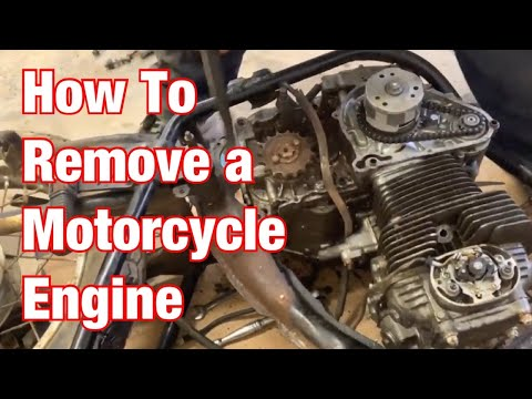 How To Remove A Motorcycle Engine-Vintage Motorcycle Restoration Project:  Part 17