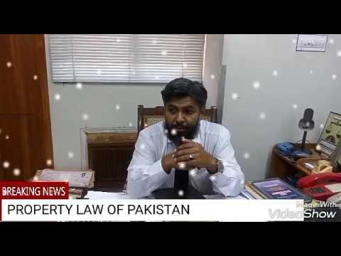 PROPERTY LAW OF PAKISTAN