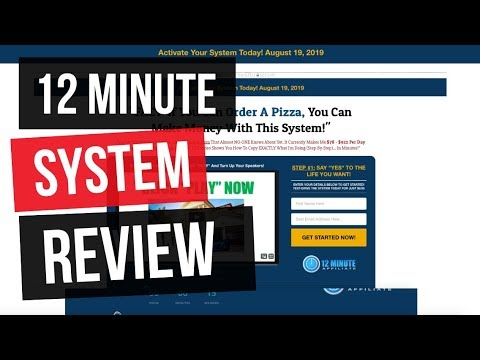 12 Minute Affiliate System Affiliate Marketing Price N Specification
