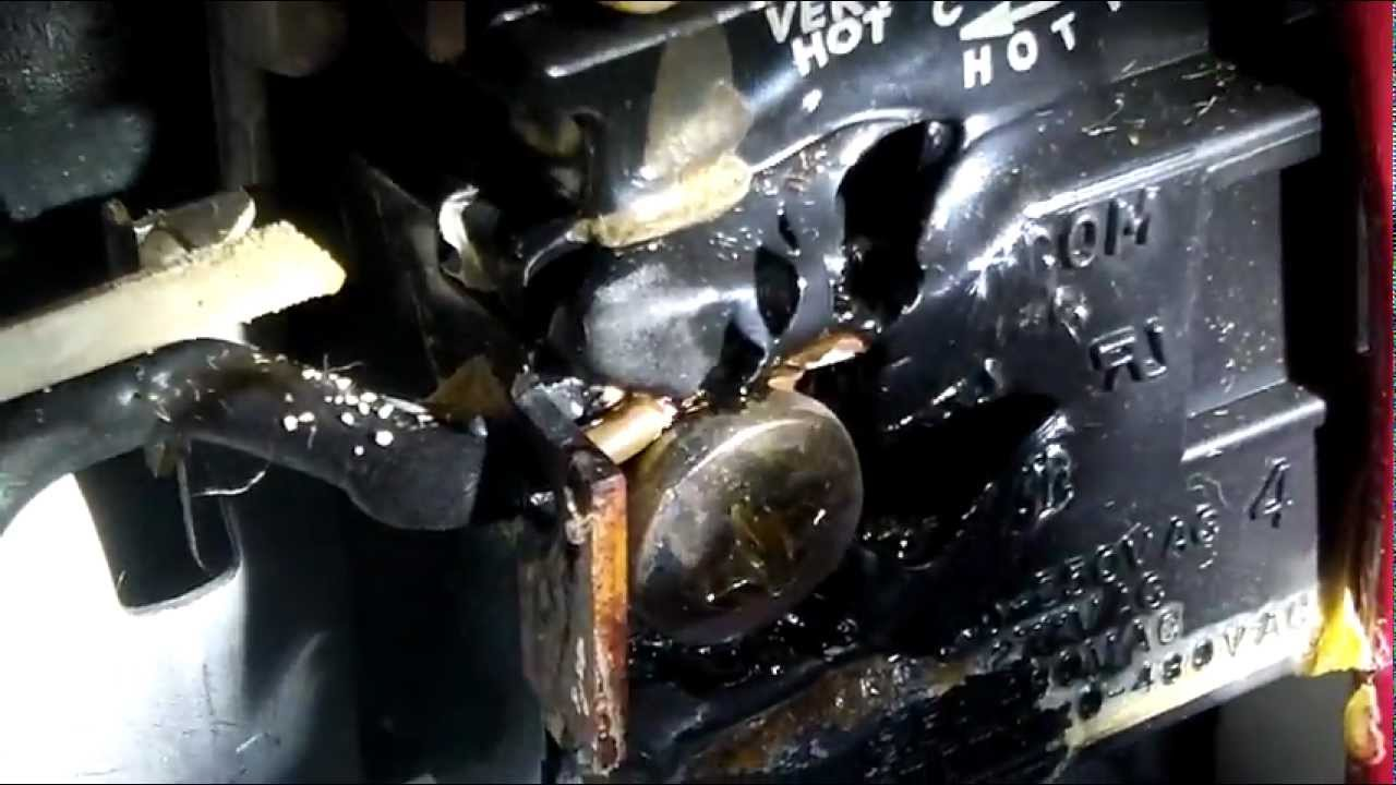 Water heater burning up due to wrong size breaker - YouTube
