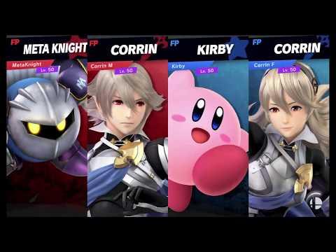 Super Smash Bros Ultimate Amiibo Fights   Request #7007 Meta Knight & Corrin Vs Kirby & Corrin