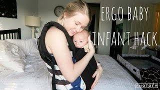 how to wear the ergo baby carrier with your 0 3 month old   no newborn insert needed