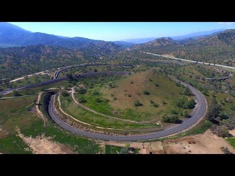 Tehachapi Loop- 360° Aerial Perspective In 4K