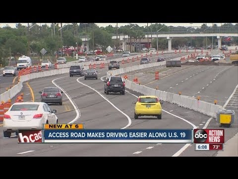 Access road makes driving easier along U.S. 19