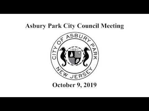 Asbury Park City Council Meeting - October 9, 2019