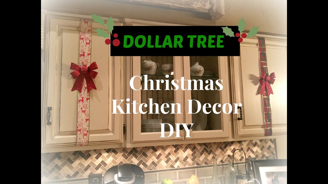 DOLLAR TREE Christmas Kitchen Cabinets Decor DIY PLAID WEEK Day - Christmas kitchen decor ideas