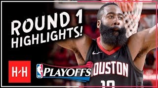 James Harden MVP Full ROUND 1 Highlights vs Minnesota Timberwolves | All GAMES - 2018 Playoffs