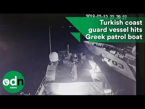 Turkish coast guard vessel hits Greek patrol boat
