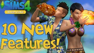 The Sims 4 Island Living: 10 NEW FEATURES You Might Not Know!