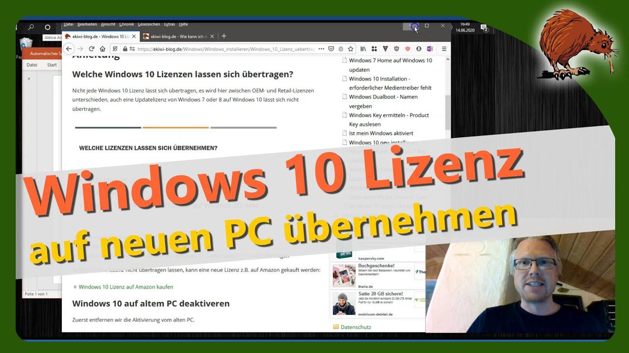 Windows 10 Lizenz Auf Anderen Pc übertragen