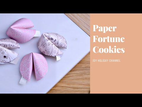 Paper Fortune Cookie - Easy  Lunar New Year Craft
