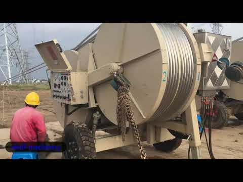 Overhead Transmissio Line Stringing Equipment Four Conductor Puller Tensioner