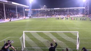 Charleroi 3 - 1 Anderlecht (Ambiance de fin de match)