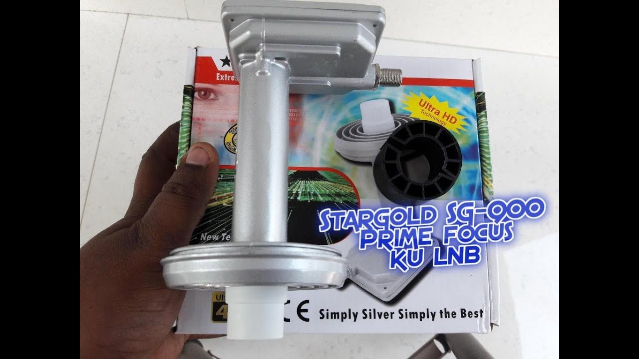 Stargold Fuji Sg 900 Prime Focus Ku Lnb For Yahasat Youtube Bricket Holder Kuband Universal