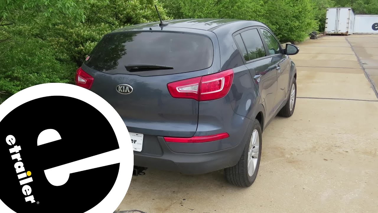 Trailer Hitch Installation - 2013 Kia Sportage - Curt - etrailer.com -  YouTubeYouTube