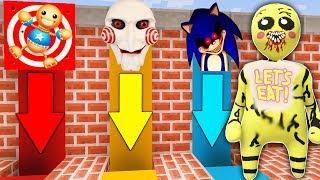 КАКУЮ СТРАШНУЮ ЯМУ ЧИКА ФНАФ 7 ПЛАСТИЛИНОВЫЙ ЧЕЛОВЕЧЕК ВЫБЕРЕТ ? Sonic.exe , Кик зе Бади и Пила
