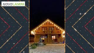 обзор новогодней светодиодной гирлянды Arlight 026038