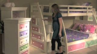 Ligo Twin Over Full Color Bunk Bed
