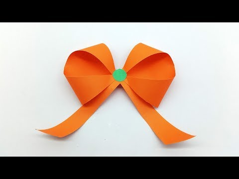 How to make easy paper ribbon bow