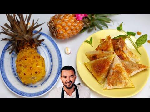 tous-en-cuisine-#41-:-je-teste-l'ananas-confit-au-four-et-les-bricks-de-poulet-rÔti-de-cyril-lignac
