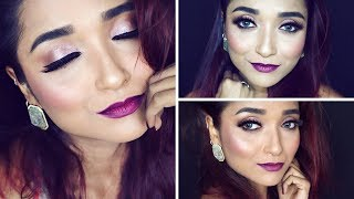 FIRST IMPRESSION USING BEST AFFORDABLE TO HIGH END MAKEUP INDIA| DIWALI 2018 MAKEUP TUTORIAL & HAUL