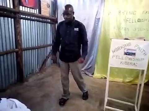 Bro Joseph Exhorting Brethren GMFC / WFF Kibera Slum Kenya 8 26 2018