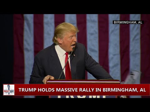 Donald Trump Tells Black Lives Matter Protester To Get The Hell Out (Birmingham, AL)