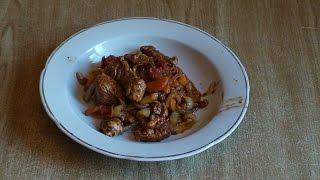 Индюшиное филе с овощами по-китайски.