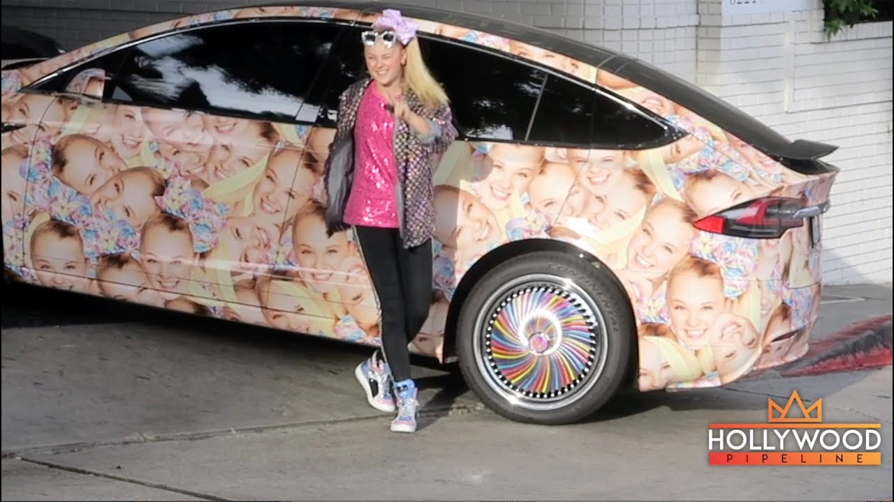 Jojo Siwa Shows Off Her Tricked Out Tesla Model X In Hollywood
