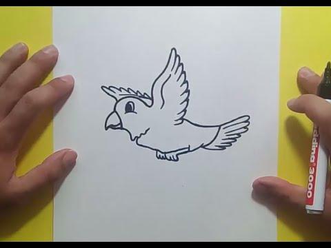 Como dibujar un pajaro paso a paso 5 | How to draw a bird 5 - YouTube
